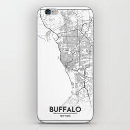 Minimal City Maps - Map Of Buffalo, New York, United States iPhone Skin