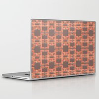 mid century modern Laptop & iPad Skins featuring Vintage Abstract Mid Century Modern Pattern by Reflektion Design