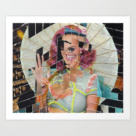 Umbrella Girl Art Print