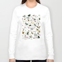 toddler Long Sleeve T-shirts featuring Animal Chart by Yuliya