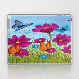 Butterflies and flowers  Laptop & iPad Skin