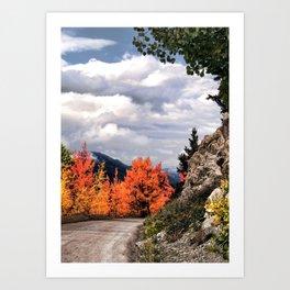 Autumn Mountain Road Art Print