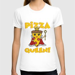 Pizza Queen CRown Castle Fairy Tale Hawaiian Tomato Sauce Pizza T-shirt