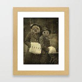 happy mewyear Framed Art Print