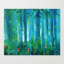 Fox-Forest Canvas Print