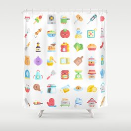 CUTE COOKING PATTERN Shower Curtain