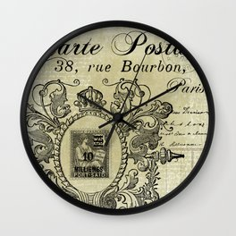 Carte Postale Wall Clock