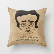 Poe Cat Throw Pillow
