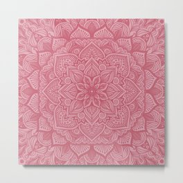 French Rose Mandala 1 Metal Print