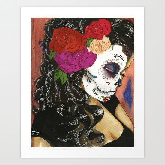 Natural High: Maquillaje De La Dia Art Print