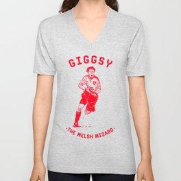 Giggsy - The Welsh Wizard Unisex V-Neck