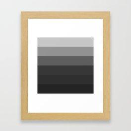 Gray to Black Stripes Framed Art Print