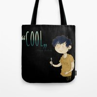 "percy jackson Tote Bags featuring ""Cool"" ?! Percy ?!  by CornFlakes Production"
