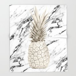 Marble Pineapple Throw Blanket