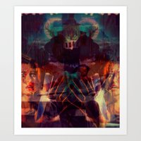 scary Art Prints featuring Scary by WDeluxe