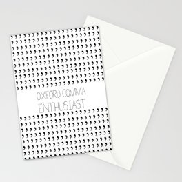 Oxford comma Enthusiast, Grammar Love, Writing, Writer Stationery Cards