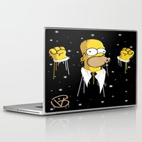 simpson Laptop & iPad Skins featuring Mr Homer Simpson by Lewismv3