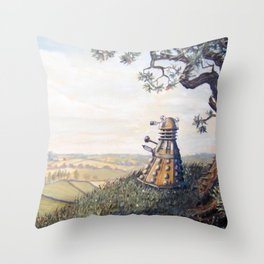 A rather Dalek afternoon Throw Pillow