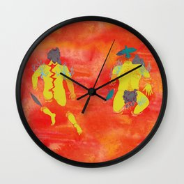 Map of my body Wall Clock