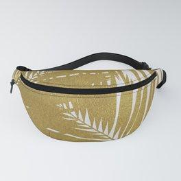 Palm Leaf Gold III Fanny Pack