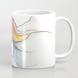 Faces, multi face drawing, NYC artist Coffee Mug