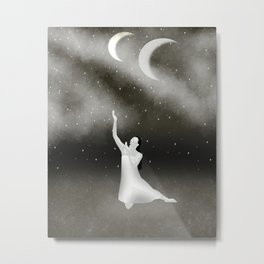 Worshipping the Moon Metal Print