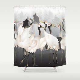 1000 Lucky Cranes Shower Curtain