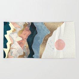 Golden Peaks Beach Towel