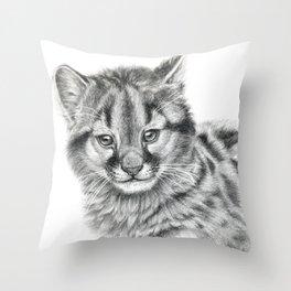 Cougar cub G039 Throw Pillow
