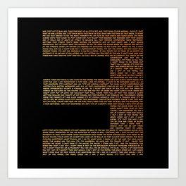 The Way I Am Gold Type Lyric Art Art Print