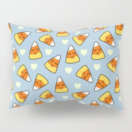 Candy Corn and Heart Pattern Pillow Sham