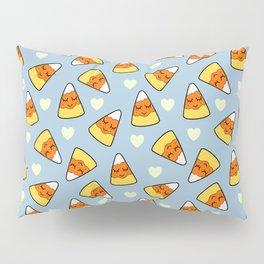Candy Corn and Heart Pattern Pillow Sham