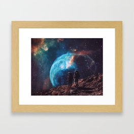 Hiking the universe Framed Art Print