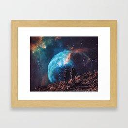 Hiking the universe Framed Art Print