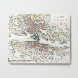 Plan of Stockholm - 1836 Metal Print