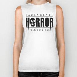 Sacramento Horror Film Festival Black Logo Biker Tank