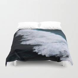 Powerful breaking wave in the Atlantic Ocean - Landscape Photography Duvet Cover
