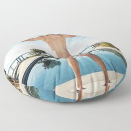 Freedom In Summer Floor Pillow