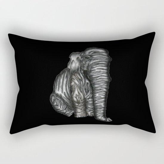 Herman in Black Rectangular Pillow