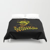 willy wonka Duvet Covers featuring W gold by Buby87