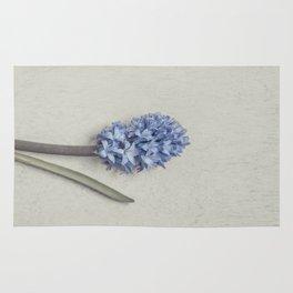 One Light Blue Hyacinth Rug