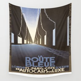 Vintage poster - La Route Bleue Wall Tapestry