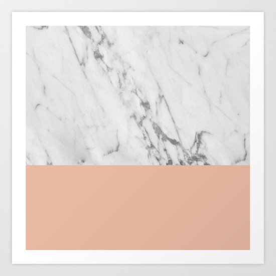Marble and Coral Art Print