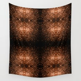 Beautiful Bronze Orange Brown glitters sparkles Wall Tapestry