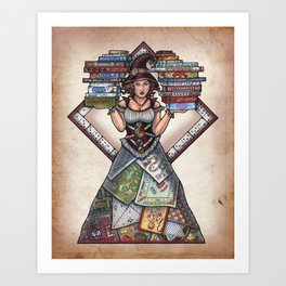 Board Game Witch by Bobbie Berendson W Art Print