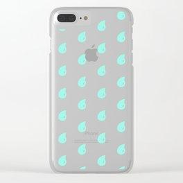 Drop Mint Pattern Clear iPhone Case