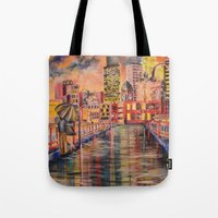 minneapolis Tote Bags featuring Minneapolis  by Kali Koltz