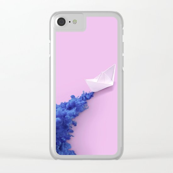 PAPER BOAT INK Clear iPhone Case