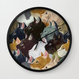 Never ending cats Wall Clock