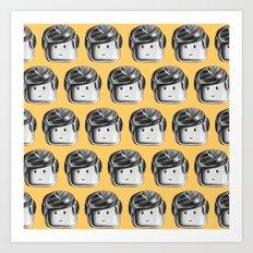 Minifigure Pattern – Yellow Art Print
